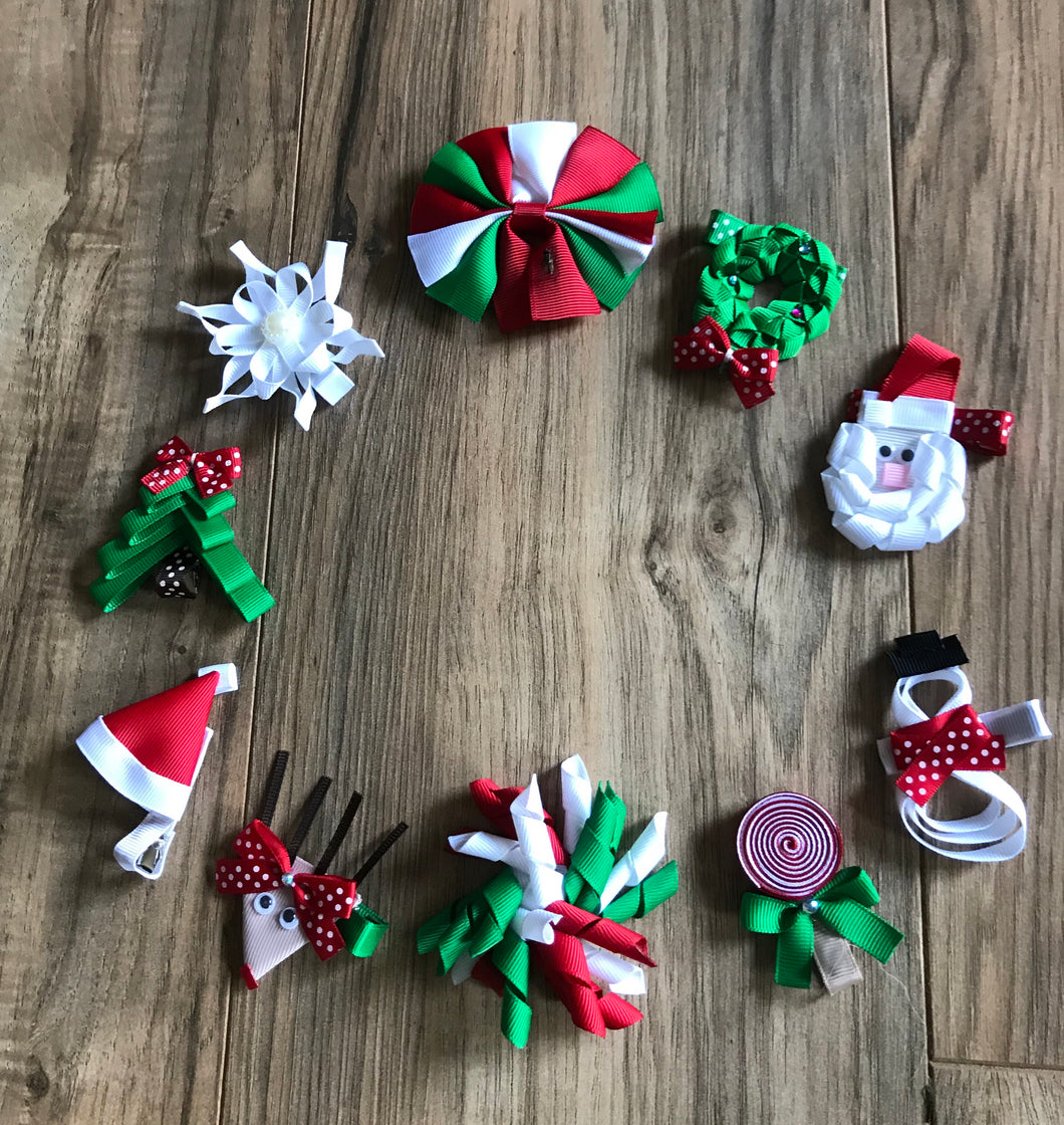 10 Christmas & Holiday Season Hair Bows