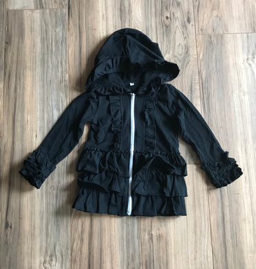 Black Ruffled Jacket