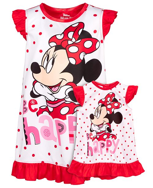 Dollie & Me Minnnie Mouse Ruffled Pajamas Set