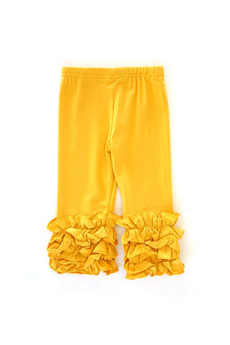 Mustard Yellow Ruffle Pants