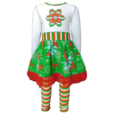 Christmas Snowflake Dress & Legging Set