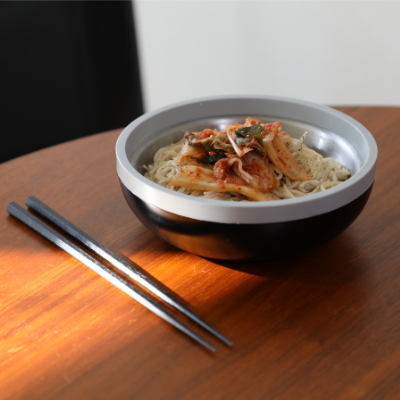 bowl with noodles
