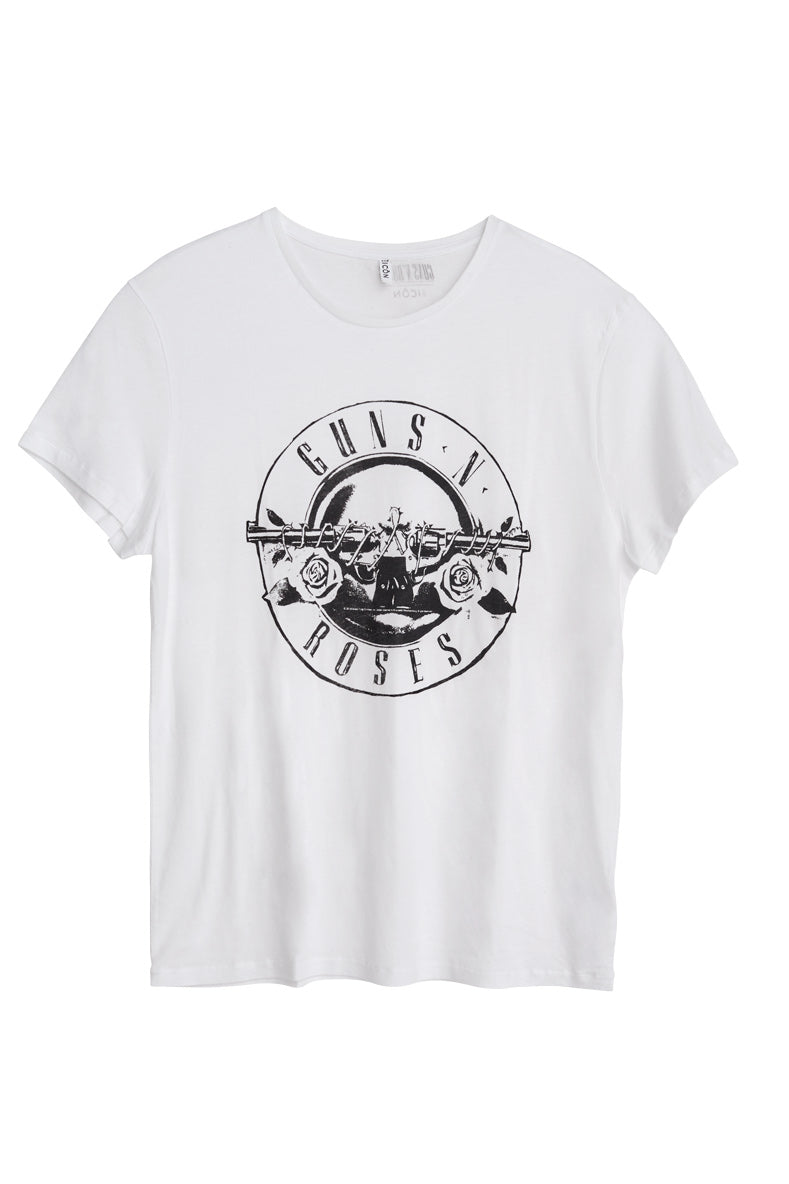 Guns N' Roses Bullet Men's White T-shirt