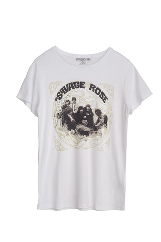"The Savage Rose ""The Savage Rose"" White T-shirt"