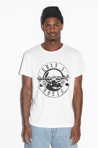 Guns N' Roses Logo Men's White T-shirt