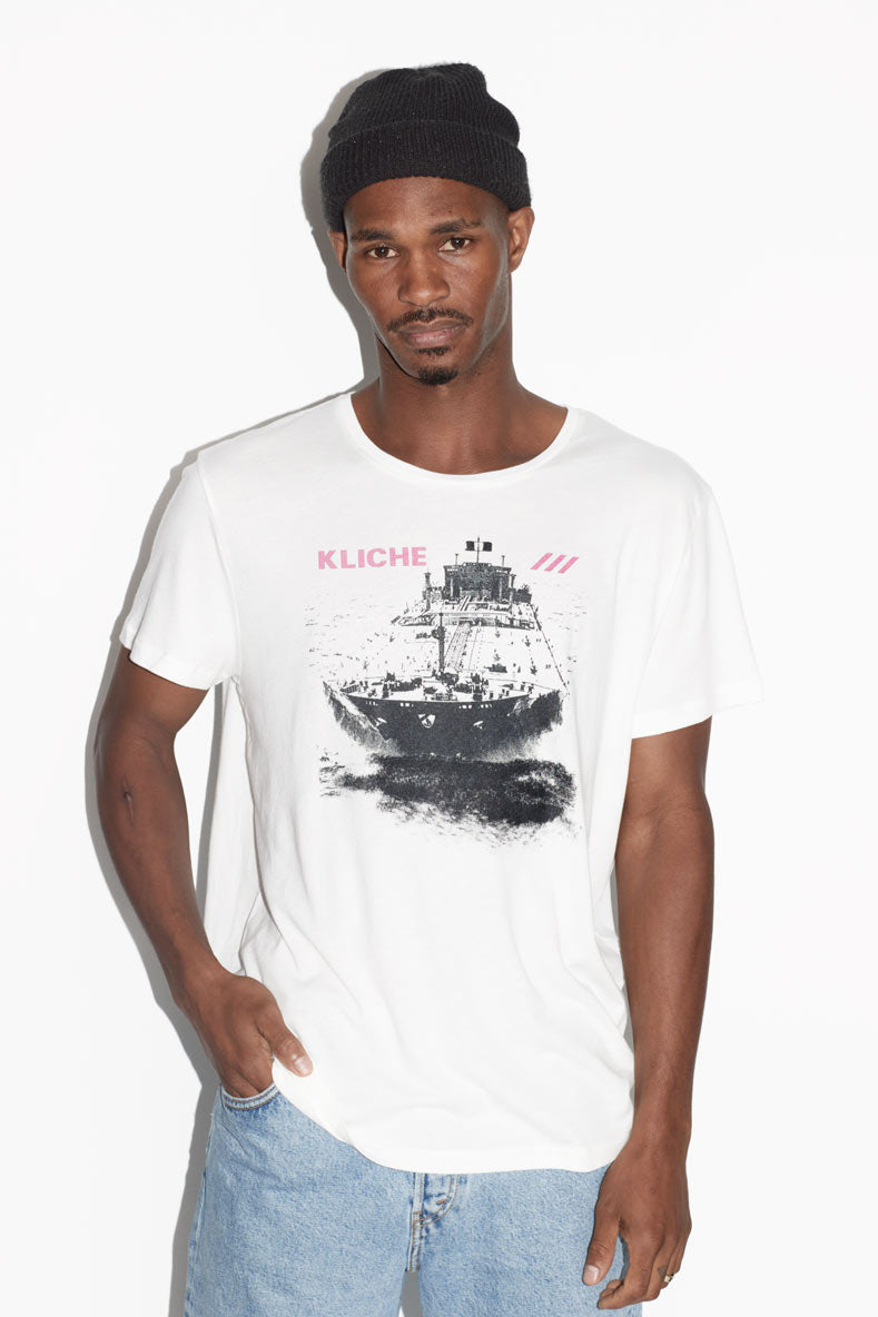 "Kliché ""Supertanker"" Men's Music T-shirt"
