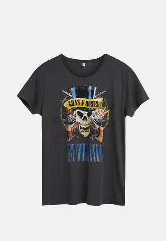 Guns N' Roses Skull Men's Grey T-Shirt