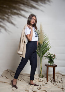 High-waist suit pants