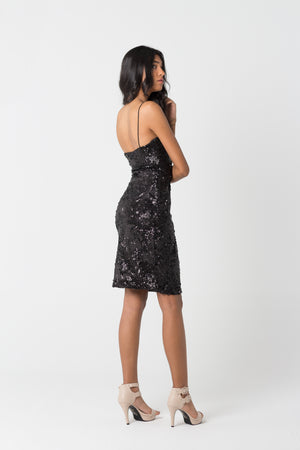Little Black Sequined Dress