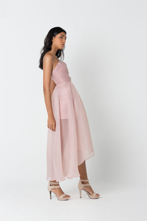 Draped Organza Dress
