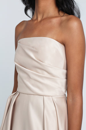 Champagne Satin Sun Dress