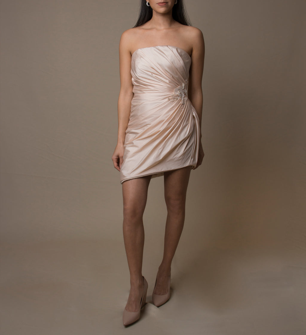 Rose Silk Taffeta Dress
