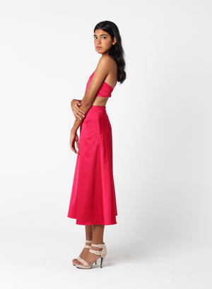 Fuchsia Cut-out Dress