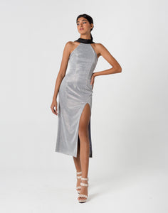 Silver Mandarin Dress
