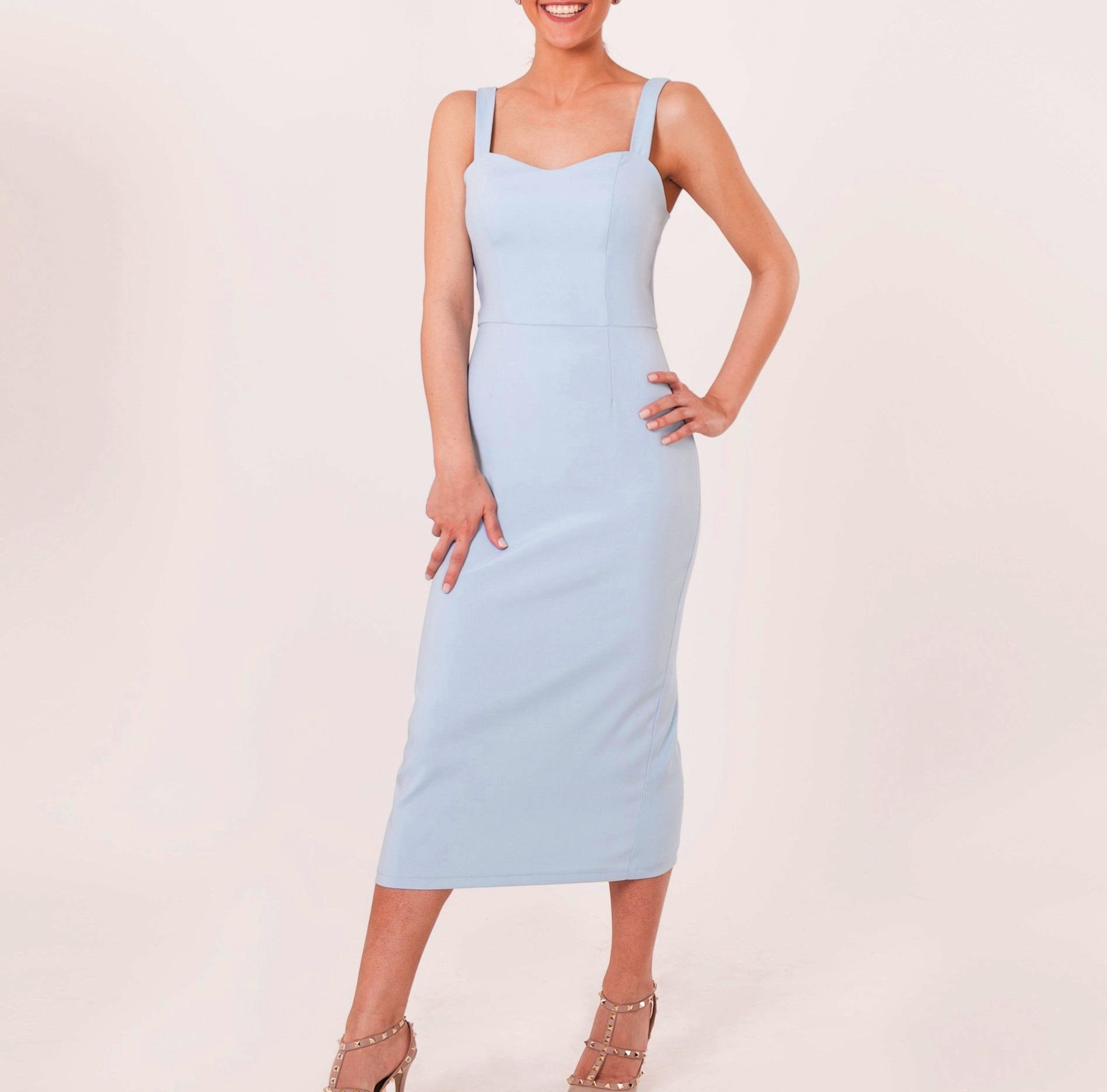 Blue Spring Slip Dress