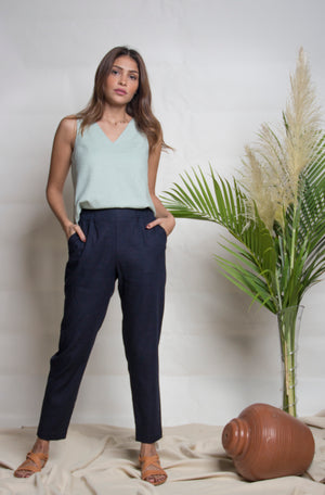 The Classic Navy Cigarette Pants