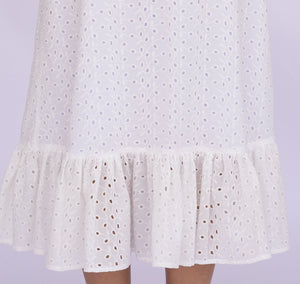 Embroidery Ruffle Dress