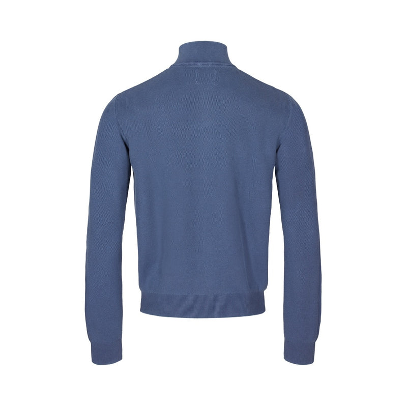 Aslak Long Sleeve Half Zip Knit - SR Navy