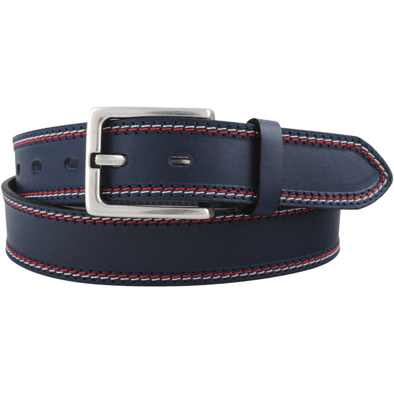 Bennet Leather Belt - Dark Navy