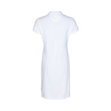 Bettina Short Sleeve Polo Dress - White