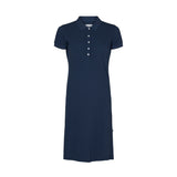 Bettina Short Sleeve Polo Dress - SR Navy