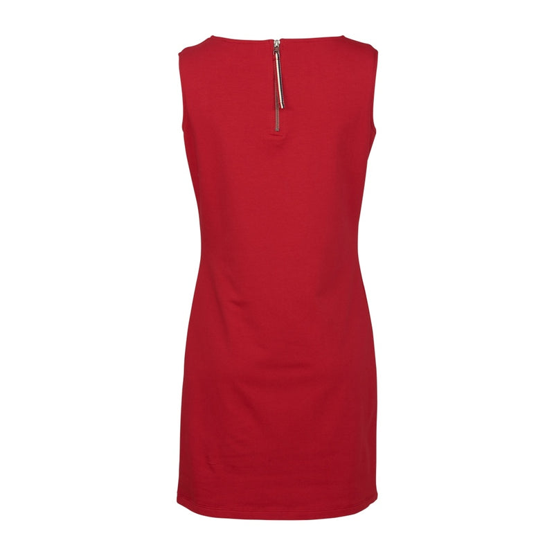 Brittany Solid Sleeveless Dress - SR Red