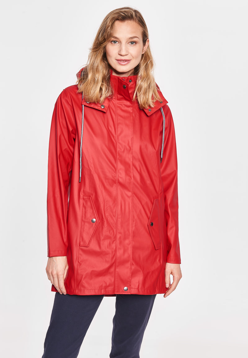 Brooke Solid Raincoat - SR Red