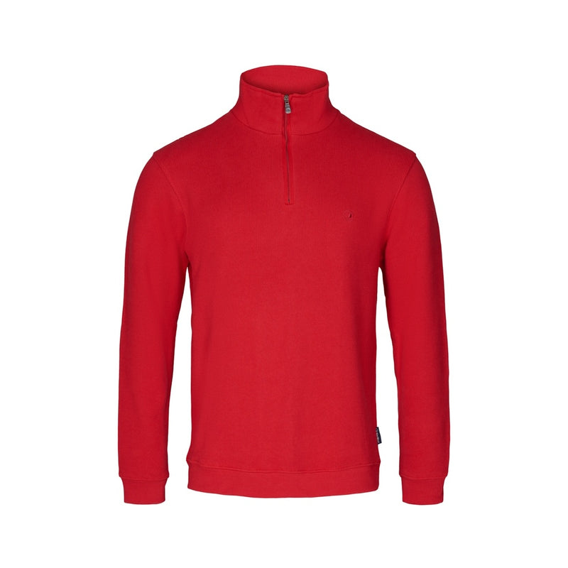 Cromwell Long Sleeve Half Zip Sweater - Strong Red