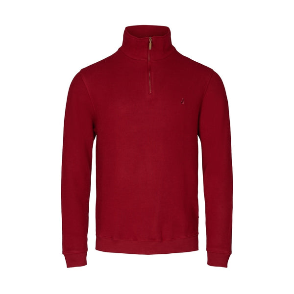 Cromwell Long Sleeve Half Zip Sweater - Dark Red