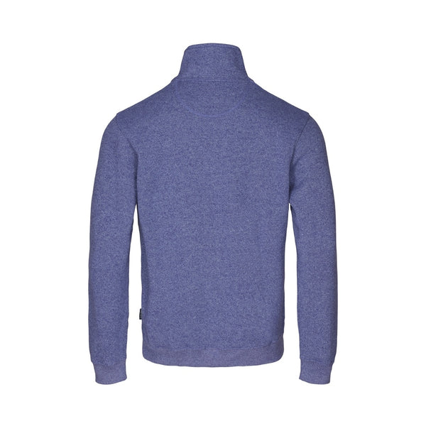 Cromwell Long Sleeve Half Zip Sweater - Navy Melange