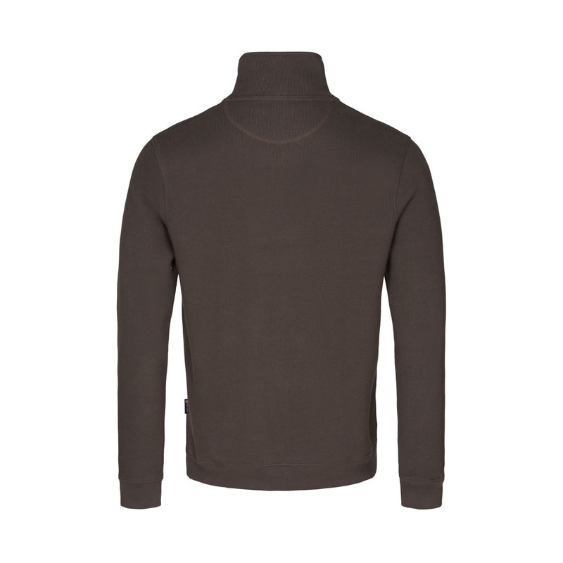 Cromwell Long Sleeve Half Zip Sweater - New Brown