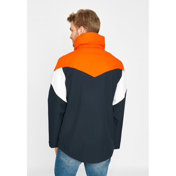 Nikolai Colour Block Jacket - Orange/White/Dark Navy