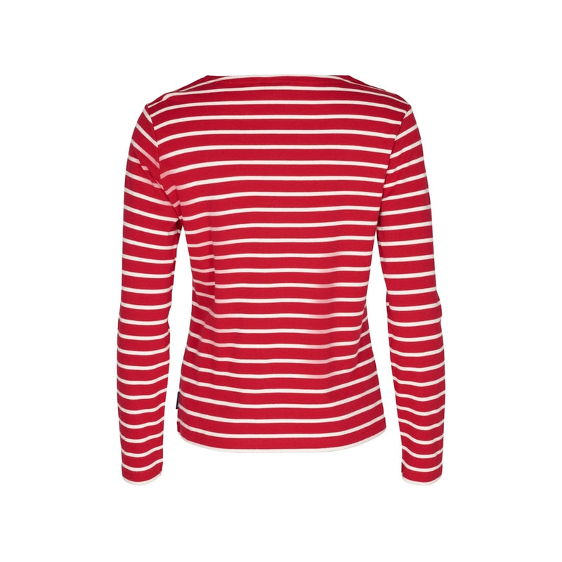 Antibes Striped Long Sleeve Tee - SR Red/Ecru