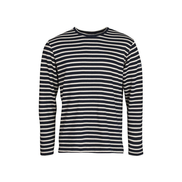 Jaques Striped Long Sleeve Tee - SR Navy/Ecru