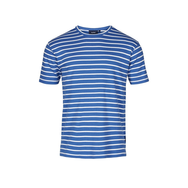 Ebeltoft Striped Short Sleeve Tee - Daphne Blue/Ecru