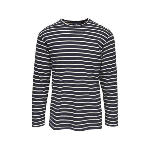 Grenaa Striped Long Sleeve Tee - SR Navy/Ecru