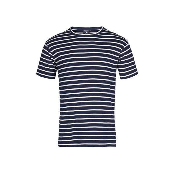 Ebeltoft Striped Short Sleeve Tee - SR Navy/Ecru