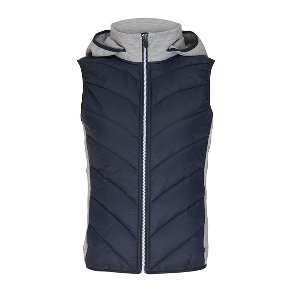 Larissa Vest With Hood - Dark Navy
