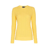 Leonora Long Sleeve Knit Sweater - Lemon