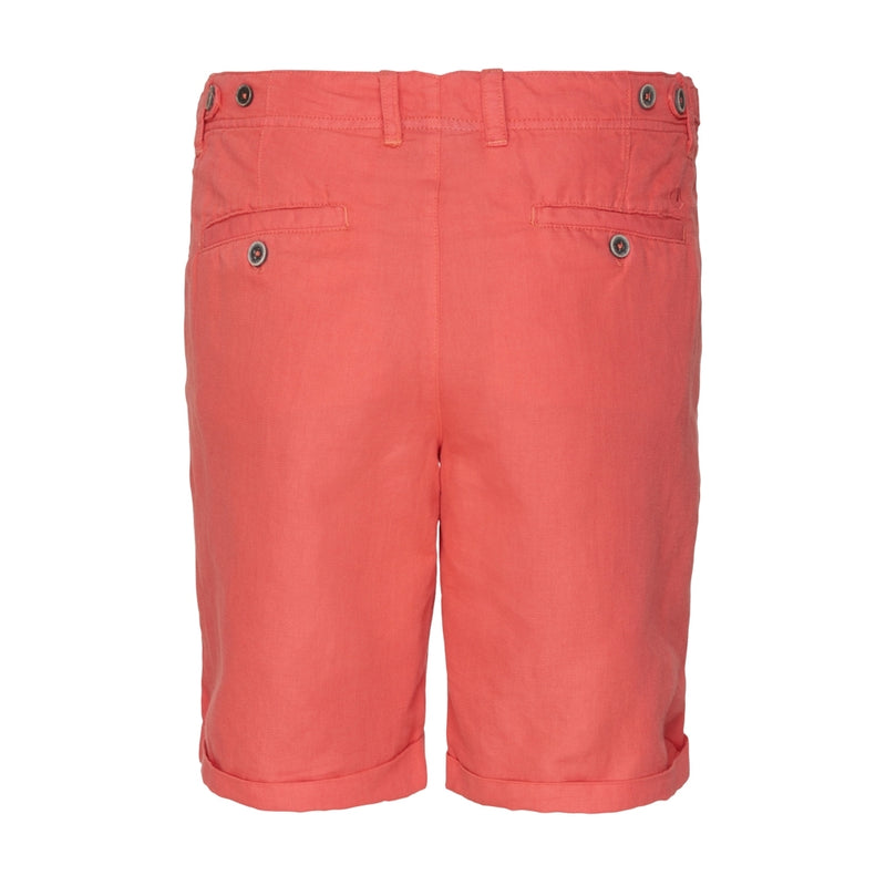 Hannah Cotton/Linen Shorts - Spiced Coral