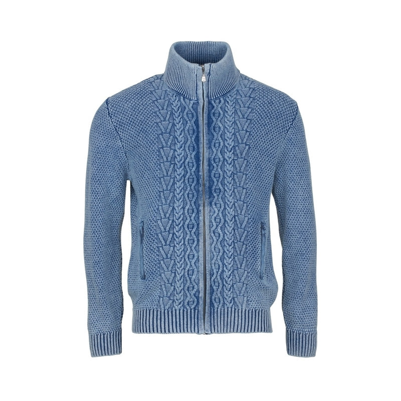 Luke Long Sleeve Cardigan - Sky Wash