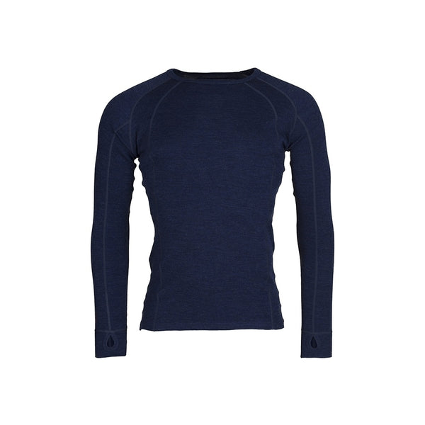 Mens Merino Wool Crew Neck - Navy