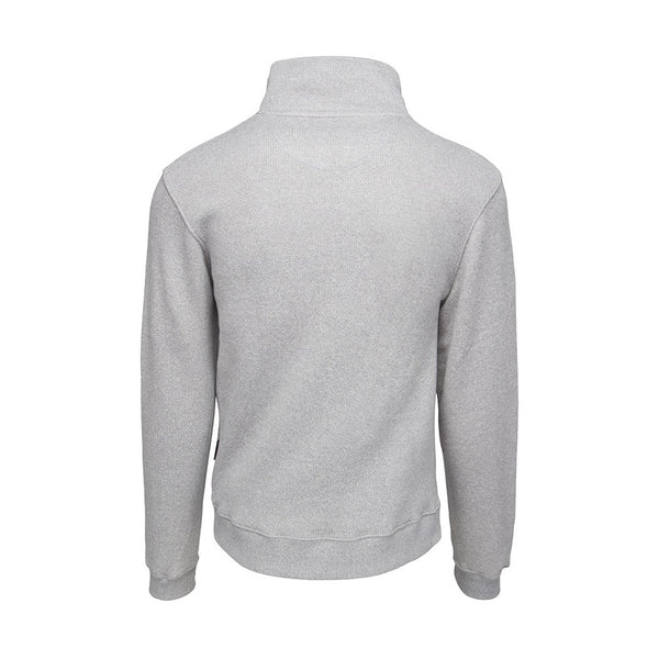 Monty Zip Sweater - Grey Melange