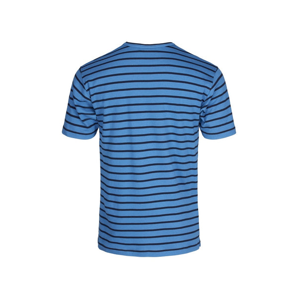 Ebeltoft Striped Short Sleeve Tee - Daphne Blue/Navy