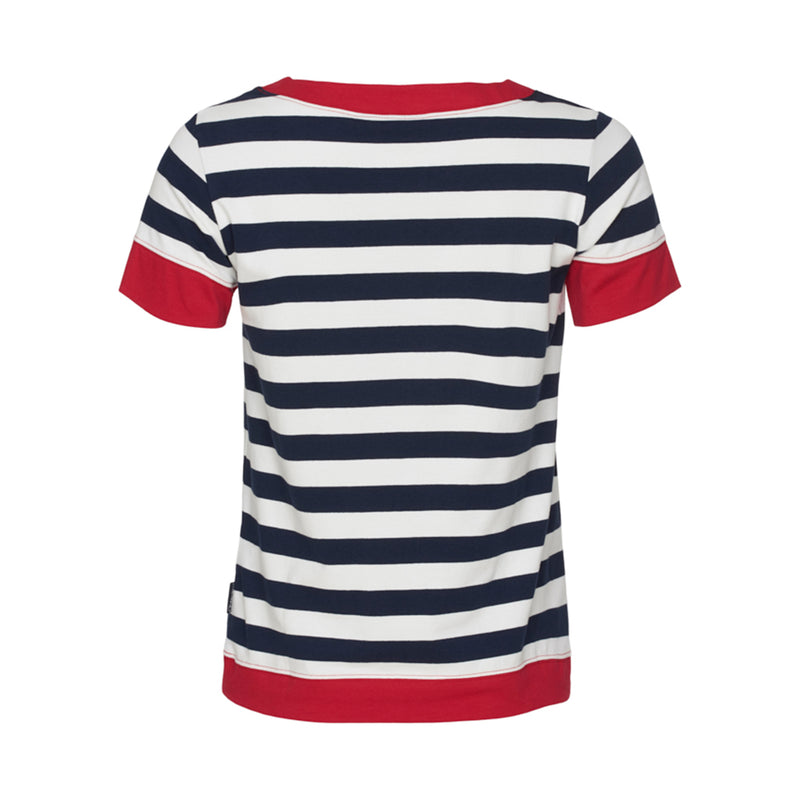 Tonnere Striped Short Sleeve Tee - SR Navy/Pearl