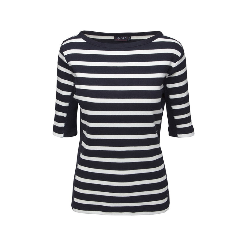 Mona Striped Short Sleeve Tee - SR Navy/Pearl