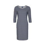 Daphne Striped Long Sleeve Dress - SR Navy/Pearl