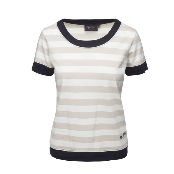 Tonnere Striped Short Sleeve Tee - Light Sand/Pearl