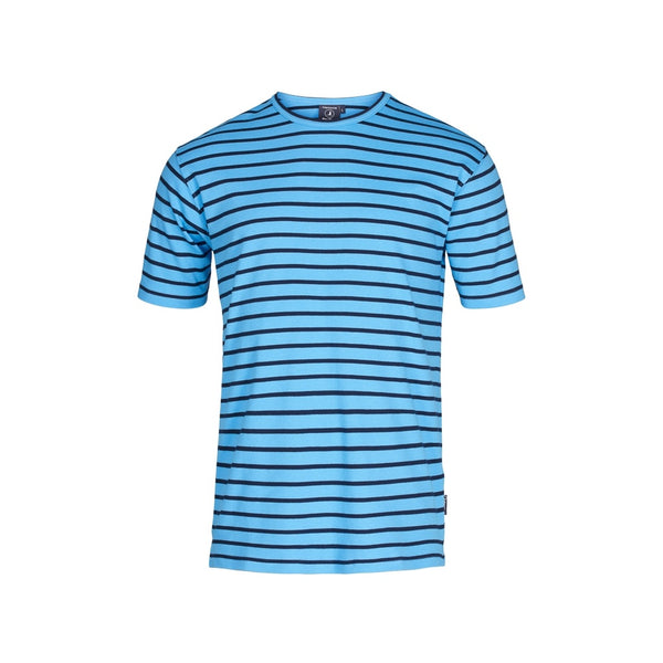 Ebeltoft Striped Short Sleeve Tee - Azure Blue/SR Navy