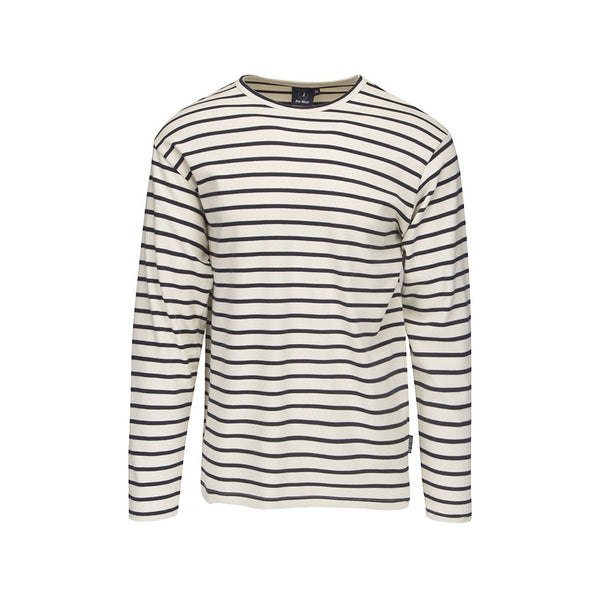 Grenaa Striped Long Sleeve Tee - Ecru/SR Navy